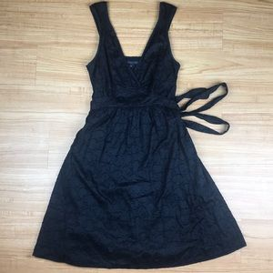 Marc Jacobs Black Cotton Fit & Flare Sundress XS